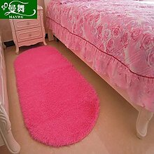 GRENSS Ovale Kabel Wolle Teppich Schlafzimmer