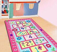 GRENSS Rosa Kinder Teppich mit Hopse Spiel Baby