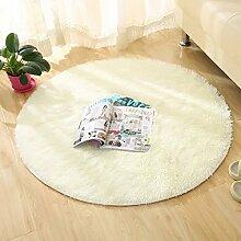 GRENSS Runde Farbe Teppich für Wohnzimmer grosse Größe Teppiche Home Decoration, beige, 80 x 80 cm