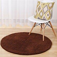 GRENSS Runde Fußmatte Schlafzimmer Teppich Modern