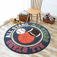 """GRENSS Runde Kinder Teppich mit Bällen gedruckt Teppich für Kinder Schlafzimmer Runde Spielen kriechen Pad 39"""" Durchmesser Runde Fußmatte"""