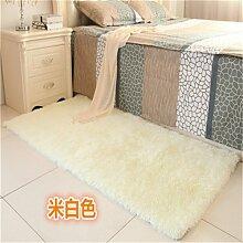 GRENSS Schlafzimmer anpassen Teppich 80 * 160 cm lange Haare (4-5 cm) Wohnzimmer Teppich 50*160 Küche Wolldecke 120*170 cm Anpassen moderne Zimmer Matte, Reis gelb, 120 von 160 cm
