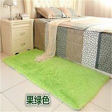 GRENSS Schlafzimmer anpassen Teppich 80 * 160 cm lange Haare (4-5 cm) Wohnzimmer Teppich 50*160 Küche Wolldecke 120*170 cm Anpassen moderne Zimmer Matte, Frucht grün Matte, 90 von 160 cm