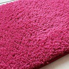 GRENSS Stock dicke Wolldecke Kaschmir Teppich Soft Rechteck Matten rutschsichere Wasseraufnahme für Wohnzimmer Wohnzimmer Schlafzimmer, rose rot, 50 x 120