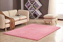 GRENSS Stock dicke Wolldecke Kaschmir Teppich Soft Rechteck Matten rutschsichere Wasseraufnahme für Wohnzimmer Wohnzimmer Schlafzimmer, Wassermelone rot, 80 x 160