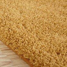 GRENSS Stock dicke Wolldecke Kaschmir Teppich Soft Rechteck Matten rutschsichere Wasseraufnahme für Wohnzimmer Wohnzimmer Schlafzimmer, Khaki, 50 x 120