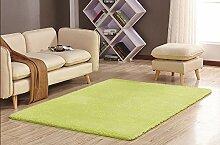 GRENSS Stock dicke Wolldecke Kaschmir Teppich Soft Rechteck Matten rutschsichere Wasseraufnahme für Wohnzimmer Wohnzimmer Schlafzimmer, hellgrün, 50 x 80