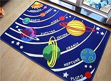 GRENSS Teppich Kinderzimmer 100% Nylon blau Solar System Form Teppich und Teppiche Kids Baby Spielteppich Geschenk für Jungen Kinder Teppiche Teppiche