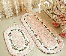 GRENSS Weihnachten Oval Rosa Teppich Wohnzimmer