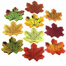 Gresorth 10 Farbe Fälschung Blatt Künstlich Herbst Ahorn Blätter Kunst Blume Hochzeit Dekoration - 1000 PCS