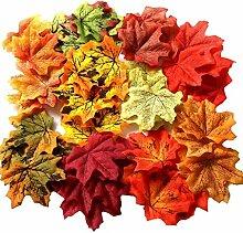 Gresorth 1000 PCS Fälschung Herbst Ahorn Blatt 10 Farbe Künstlich Kunst Blätter Hochzeit Dekoration