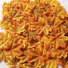 Gresorth Fälschung Ahorn Blatt Künstlich Herbst Ahorn Blätter Kunst Blume Hochzeit Dekoration - 1000PCS