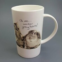 Grey Hares - Hasentasse - Mug - Becher - Latte