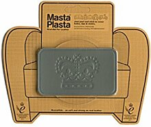 Grey MastaPlasta Self-Adhesive Leather Repair Patches. Choose size/design. First-aid for sofas, car seats, handbags, jackets etc. (GREY CROWN 10cmx6cm)