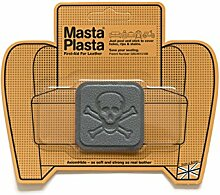 Grey MastaPlasta Self-Adhesive Leather Repair Patches. Choose size/design. First-aid for sofas, car seats, handbags, jackets etc. (GREY PIRATE 5cmx5cm)