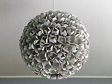 Grey Pearl Flower, graue Lampe Leuchte Lampenschirm Pendelleuchte Pendellampe Hängeleuchte Hängelampe Papierleuchte Papierlampe Reispapierlampe Designerlampe Wohnzimmerlampe Schlafzimmerlampe Deckenlampe