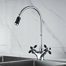GreyZook Küche Wasserhahn Massive Messing Wasser