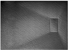 Grg Duschwanne 80x100x2,6 cm Anthrazitfarbe