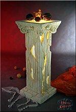 Griechische Säule Lampe Stehlampe Blumensäule