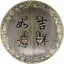 Griff,Antik kupfer griff chinesische schranktür möbelgriff Outfit kupfer griff Tür-hardware kupfer armaturen Face plate schraube schrankeinbau-N