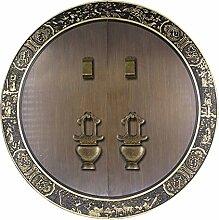 Griff,Chinesisch zu behandeln Messing schloss schranktür möbelgriff ming und qing antike accessoires schranktür griff Türschloss 44 cm-P
