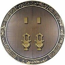 Griff,Chinesisch zu behandeln Messing schloss schranktür möbelgriff ming und qing antike accessoires schranktür griff Türschloss 28 cm-K