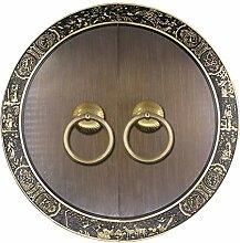 Griff,Chinesisch zu behandeln Messing schloss schranktür möbelgriff ming und qing antike accessoires schranktür griff Türschloss 35 cm-E