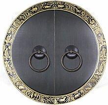 Griff,Chinesische antik kupfer griff Tier kopf