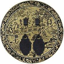 Griff,Chinesische kupfer griff Schranktür griff Antike griff Antike möbelgriff Kupfer-zubehör Vintage klopfer Hardware Face plate schraube schrankeinbau 14cm-F