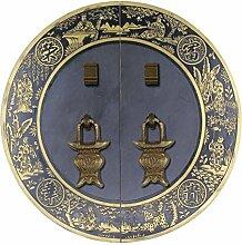 Griff,Möbelgriff Hardware kupfer armaturen Türschnalle Antik bronze griff Chinesisch zu behandeln Türschloss Face plate schraube schrankeinbau-D