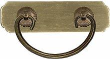 Griff,Schublade messinggriff Chinesische türklopfer Antiker schrank schublade flachgriff Vintage griff Knopf Möbelgriffe-A