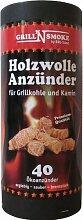 Grill'n Smoke Holzwolle Anzünder für Kamin und Grill 40 Stück
