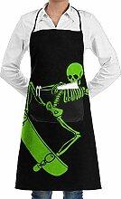 Grill Aprons Kitchen Chef Bib Cool Halloween Skull