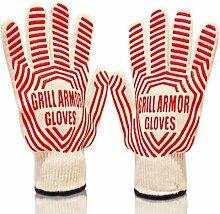 Grill Armor Handschuhe, rot, Einheitsgröße