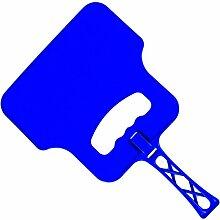 Grill Hand Ventilator / Hitzebeständig Plastik BBQ Grill Flamme Luft Kurbel Bläser / Sicher Außen Garten Dunkelgrau Tabletts Caol Manuel Feuerzeug - Blau