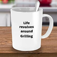 Grill-Kaffeetasse, Geschenk zum Vatertag,