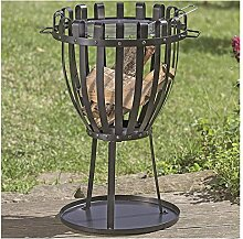 Grill mit Rost Ø 45cm, H: 72cm, Metall schwarz