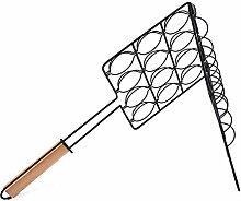 Grill Netz, Außen Faltbar Holzgriff Praktisch