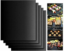 Grill Pad 5 Pack, Anti-Stick Oven Pad Teflon