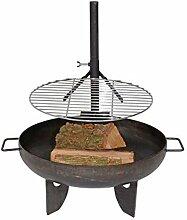 Grill-Rost Stahl Feuer-Schale 40cm Ersatz Grill-Rost Feuer-Stelle Planz-Schale Terrassen-Ofen BBQ