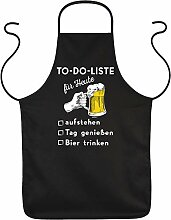 Grill-Schürze Bier Sprüche - Bier-Motiv