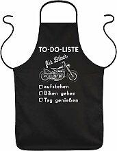 Grill-Schürze Biker Sprüche - Biker-Motiv