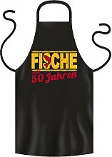 Grill Schürze Schwarz Fische 50 Jahre