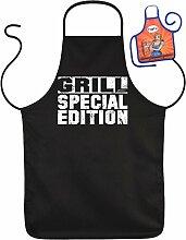 GRILL Special Edition - Fun Schürze - mit kleiner Mini-Schürze als Präsen