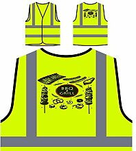 Grill Und Grill Grill Personalisierte High Visibility Gelbe Sicherheitsjacke Weste m793v