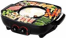 Grill Und Hot Pot Doppeltopf,Elektrogrill Barbecue