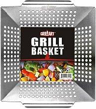 grillart Grillkorb – großer Grillkorb für mehr