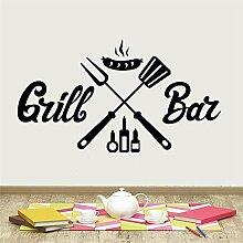 Grillbar BBQ Wandaufkleber für Esszimmer Barbecue