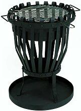 GrillChef Feuerkorb mit Grilleinsatz, schwarz