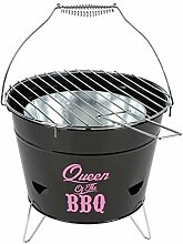 Grilleimer Ø28cm Campinggrill Picknickgrill Eimergrill Partygrill Balkongrill, Variante:Queen